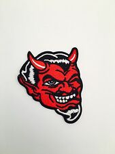 Red Devil Patch Automotive Custom Drag Racing Biker Motorcycle Outlaw