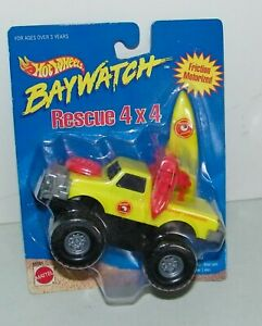1995 HOT WHEELS BAYWATCH RESCUE 4X4 FRICTION, MOTORIZED, Pick Up Truck NEW