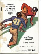 1945 2nd Air Force-Fourth Air Force Program at LA Coliseum Tom Fears!!