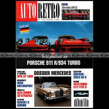 AUTO RETRO N°163 CZ CEZETA 502 MERCEDES 300 SL OPEL GT 1900 PORSCHE 911 R & 934