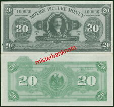 "MEXICAN-STYLE MOTION PICTURE MONEY ""20"" MOVIE PROP NOTE BILL - HOLLYWOOD-USED !"