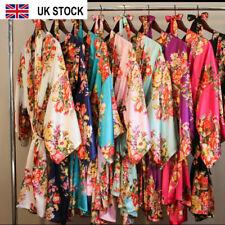 Satin silk Floral kimono Robe Bride robe Bridesmaid Wedding dressing GOWN