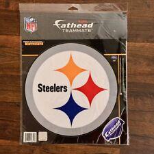 "NFL PITTSBURG STEELERS FATHEAD Peel & Stick vinyl decal, 11"" x 11"""