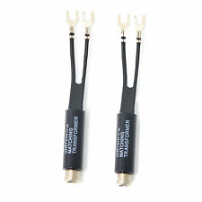 NEW TV ANTENNA MATCHING TRANSFORMER 75 - 300 OHM F CONNECTOR INDOOR 2 pc