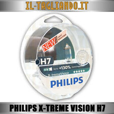 Blister 2 Lampade Lampadine Philips H7 X-TREME Vision +130% LUCE Bianca Ghiaccio