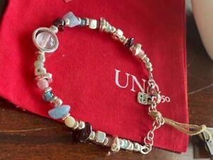 Uno De 50 Energy with Gemstones Bracelet 7.5 inches long