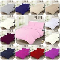 100% Egyptian Cotton 200TC Duvet Quilt Cover Pillowcases Bedding Sets, All Sizes