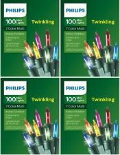 Philips 100ct Christmas Incandescent Mini String Lights Multicolored Twinkle NEW