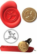 Wax Stamp, FLYING PHEASANT GAME BIRD design and Red Wax Stick XWSC054-KIT