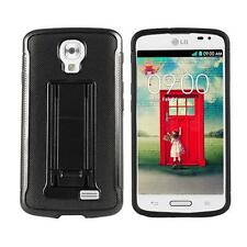 Phone Case For Straight Talk LG Access L31G LTE Black Tough Rugged Cover Stand
