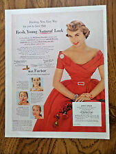1952 Max Factor Pan-Cake Make-up Ad  Hollywood Movie Star Janet Leigh