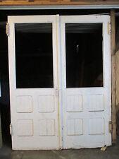 ~ Antique Oak Double Entrance French Doors 67 x 88 ~ Architectural Salvage ~