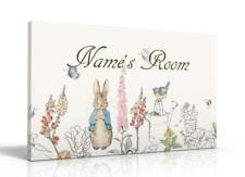 PERSONALISED DOOR SIGN / NAME PLAQUE - Peter Rabbit Beatrix Potter FREE P&P