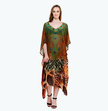 Peacock feather- Kaftan Long