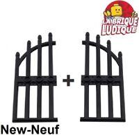 New Black Arched Gate REF 42448 Lego Portail noir 1x4x9 /& fixations neufs