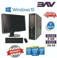 Computer Desktop PC BUNDLE Dell HP INTEL i3 i5 i7 4th Gen 8GB RAM 500GB HDD