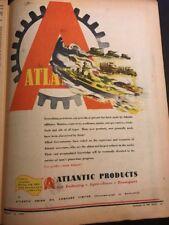 Atlantic Oil Original 1940s Australian Vintage Print Advertising Militaria