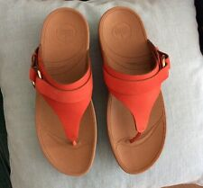 Fitflop Via Flame summer sandals, warm orange, UK8, new, boxed, thong Fitflops