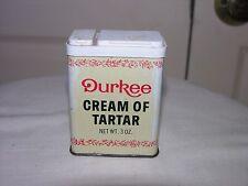 Durkee Cream of Tartar Metal Spice Tin Can