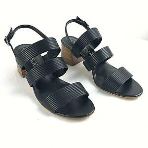 Womens Sandal Black Size 9 Sole Society SO-Saintah Slingback Heel   New