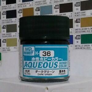 Gunze Aqueous Hobby Color H-36, Gloss Dark Green.