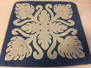 "Hawaiian Quilt Handmade Pillow Cover 18""/18"" W/free Shipping"
