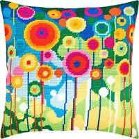 "Needlepoint/Tapestry Pillow Cover DIY Kit ""Dandelions"""