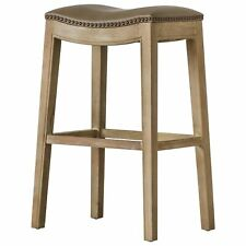 New listing New Pacific Direct Elmo Bonded Leather Bar Stool-Vintage Taupe