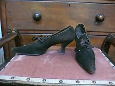 Volk`s Edwardian Brown Suede Pointy Toe Tie Front Shoes  6 /2 Narrow