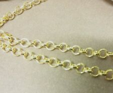 Rolo Chain Shiny Gold Chain Chain By the Foot Wholesale Chain 10 Feet