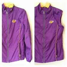 Los Angeles Lakers GIII NBA 4 Her Ladies Women Convertible Jacket Vest Purple L