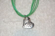 EDELWEISS Sound of Music NECKLACE gray or green ribbon