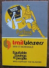 1976-77 Portland Trail Blazers Small Pocket Schedule