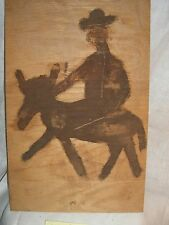 JIM SUDDUTH FOLK ART PAINTING  MAN AND HORSE  SIGNED  OUTSIDER VINTAGE