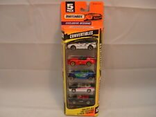 MATCHBOX DIE-CAST EXCLUSIVE DESIGNS CONVERTIBLES EXCITING 5 PACK GIFT SET MIB