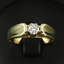 Brillant Solitär Ring ca. 0,27 ct. TW/VS 585/- Gelbgold