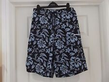McKenzie Board Shorts in Blue/Navy Blue Floral Print Mens Size Small