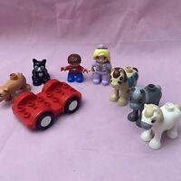 Lego Duplo Bundle - Animals & Figures - Horse - Pig - Cat - Princess