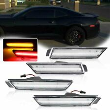 Clean Lens Amber&Red Front Rear Sidemarker Lights LED Kit For 10-15 Chevy Camaro