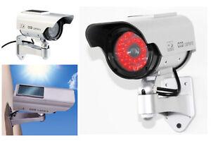 2 x Dummy Security Cameras - SOLAR FAKE CCTV CAMERA RED LED POWER LIGHTS