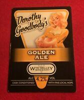 BEER ALE PUMP CLIP - WYE VALLEY BREWERY DOROTHY GOODBODY'S    (II45)