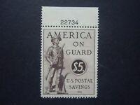 #PS15 $5.00 Postal Savings Stamp Plate # Single MNH OG VF CV $85 #2