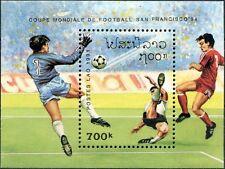 "LAOS Bloc N°115** Bf Football ""San Francisco 94"",  1991, Soccer world cup Sheet"