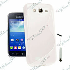 Etui Housse Coque TPU silicone BLANC Samsung Galaxy Trend Lite S7390 + Stylet