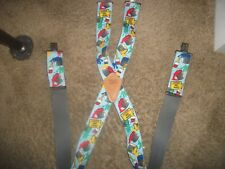 NOS MENS SUSPENDERS  BRACES PAINTERS WET PAINT CAUTION