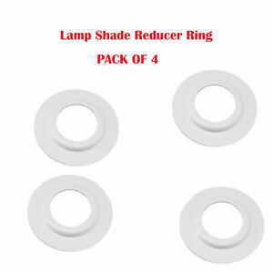 Lamp Shade Adapter Reducer Plate / Washer / Ring Made Metal ES to BC PACK OF 4