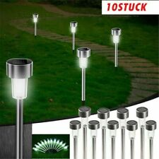 LED Solarleuchte Garten 10er Set Solarlampen Edelstahl Außen Wegbeleuchtung