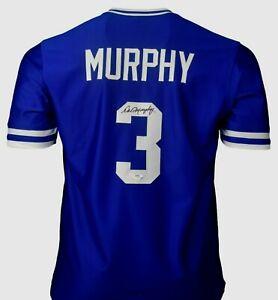DALE MURPHY  SIGNED  CUSTOM  XL  ATLANTA MINT, BLUE JERSEY, PSA COA #9A14502
