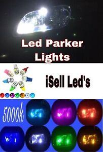 for Mitsubishi Lancer Mirage CC-CJ  2PCS 5k WHITE led front parker light bulbs