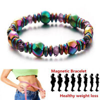 Magnetic Bracelet Beads Hematite Stone Therapy Health Care Weight Loss Unisex 1*
